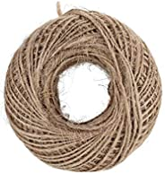 100M Natural Burlap Hessian Jute Twine Cord Hemp Rope String 2mm Rustic Wrap Gift Packing String Wedding Decor