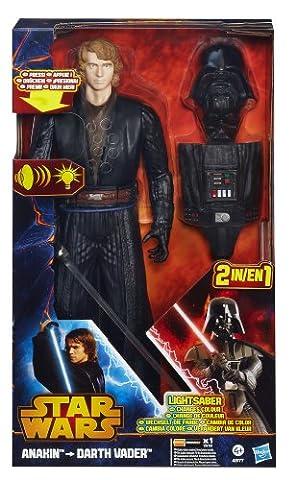 Star Wars – A2177 – D'Anakin à Dark Vador – Figurine 2en1 Interactive 30cm (Import Royaume-Uni)
