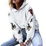 Damen Tops, FEITONG Frauen Kapuzen Langes Hülsen Beiläufiges Blumen Sweatshirt Pullover