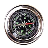 Best Hiking Compass - JUMBO Metal Military Magnetic Compass Fengshui / Hiking Review