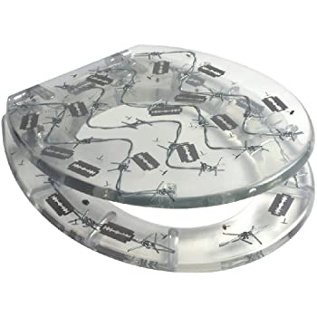 Barbed Wire Resin Toilet Seat Amazon Co Uk Kitchen Amp Home