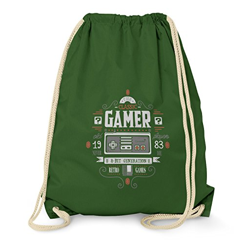 texlab-the-classic-gamer-turnbeutel-dunkelgrn