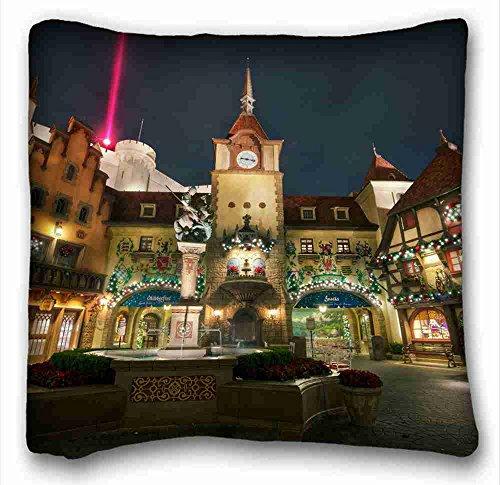 custom-city-usa-home-walt-disney-world-epcot-center-germany-pavilion-street-night-lights-pillowcase-
