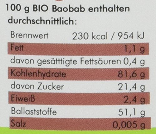manako Baobab BIO Pulver, 250 g Dose (1 x 0,25 kg)