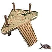 Petacc Schwimmende Schildkröte Pier Reptilien Schildkröte Sonnenbad Plattform Aquarium Ornament (M)