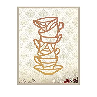 Couture Creations Teacup Tower Intricutz Dies, Metal, Black