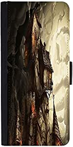 Snoogg Haunted Mansion 2691 Graphic Snap On Hard Back Leather + Pc Flip Cover...