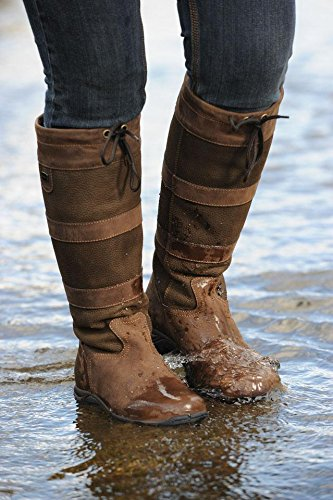 Dublin étanche Cuir Country Bottes de rivière-gratuit Cadeau de Nikwax-Toutes les tailles/couleurs/largeurs noir