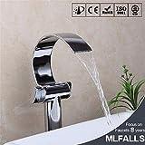 NewBorn Faucet Küche oder Badezimmer Waschbecken Mischbatterie Chrom Einloch Waterfall-Tray nach Oben Leitungswasser Taichung Becken Wasser unter geringem Tippen