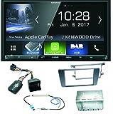 Kenwood DMX-7017DABS Bluetooth Carplay Android Auto USB MP3 Digitalradio Autoradio Einbauset für Skoda Octavia 2 Yeti 5L