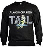 Always Chasing TAIL Angler Sweater for Boys, Farbe Schwarz, Pop Art Style