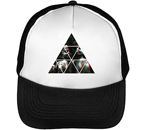 Scarry Dolls Horror Creepy Mystery Film About Toys Men's Baseball Trucker Cap Hat Snapback Black White (Dead Film Doll)