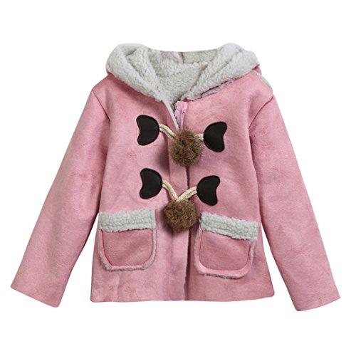 Winter Kapuzenmantel Jacken Baby Mntel Jacket Thick Warm Jacken SOMESUN Baby Bekleidung 2017, Pink, 24 (Minion Outfit Erwachsene)