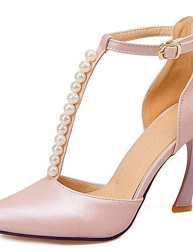 ShangYi Chaussures Femme-Mariage / Bureau & Travail / Soirée & Evénement-Bleu / Rose / Blanc-Talon Aiguille-Talons-Talons-Similicuir , blue-us8 / eu39 / uk6 / cn39 , blue-us8 / eu39 / uk6 / cn39