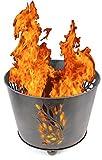 Nick and Ben Riesen Design Silber Feuer-Korb XL Vintage 45cm Feuer-Schale Garten-Kamin Grill-Feuer Feuer-Stelle Pflanz-Schale Terrassen-Ofen