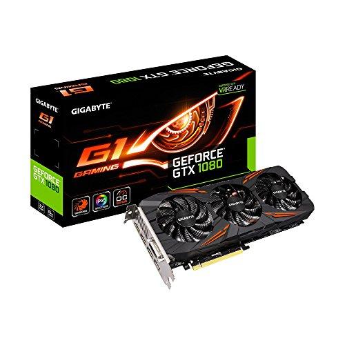 NVIDIA 8GB GDDR5X DVI, HDMI, 3xDP, GV-N1080G1_GAMING-8GD