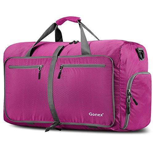 Gonex - Bolsa de equipaje plegable para deporte o viaje (multiusos, impermeable, 80 L), Rose, L
