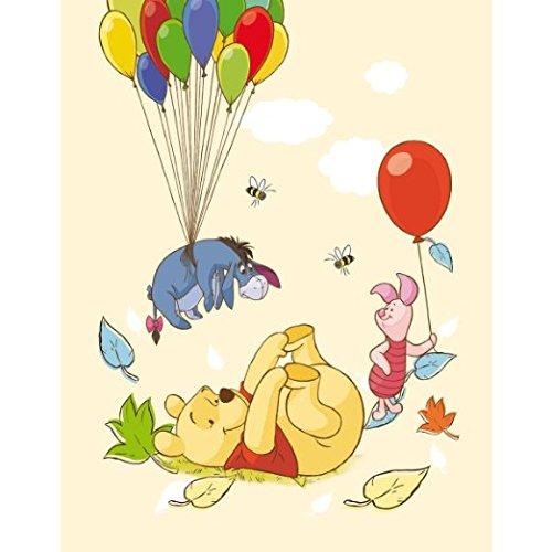 Global Labels Winnie Pooh Fleecedecke Gelb 130x170 cm Babydecke Schmusedecke