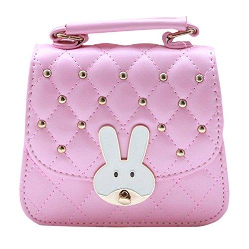 Happy Cherry Cute Girl per bambini Bambini adorabili 2d Coniglio Borsetta Minil Borsa a tracolla rosa Pink taglia unica