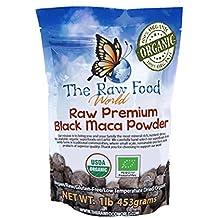 The Raw Food World: Polvo orgánico crudo de Maca negra (454g)