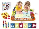 BENGO Aqua Malmatte Wasser XXL Color 100x70CM,Doodle Matte für Kinder Doodle Spiel 4 Doodle Zusatzstift mit Stempelset