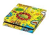 Skins4u Playstation 4 PS4 Skin Design Folie Premium Aufkleber Sticker Set - Comics gelb