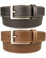 Mens Quality Stitched Leather Belt Made in UK