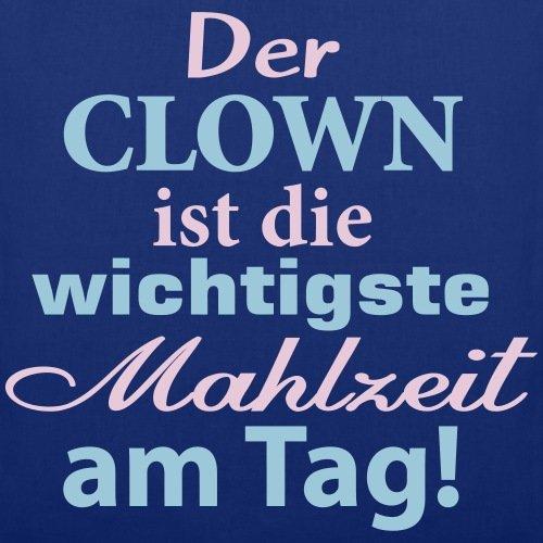 Spreadshirt Clown Früshtück Stoffbeutel Royalblau
