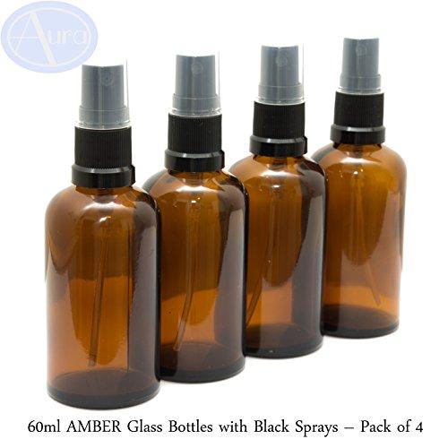 60ml-amber-glass-bottles-with-black-atomiser-sprays-pack-of-4