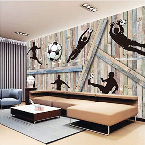 Wand Wandbild Tapete Sport Themen Spielen Fußball Holz Hintergrund Bild Foto Für Wohnzimmer Tv Dekor 300X210Cm