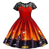 Frashing Mädchen Prinzessin Cosplay Kostüm Gestreiftes Kleid Mädchen Prinzessin Kleid Partei Kostüm Halloween Kinder Mädchen Festlich Kleid Karneval Party Abendkleid 3-7 Jahre
