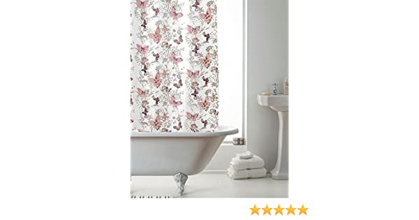 Country Club Shower Curtain Hookless Easy Hang Washable Modern Design 180cm