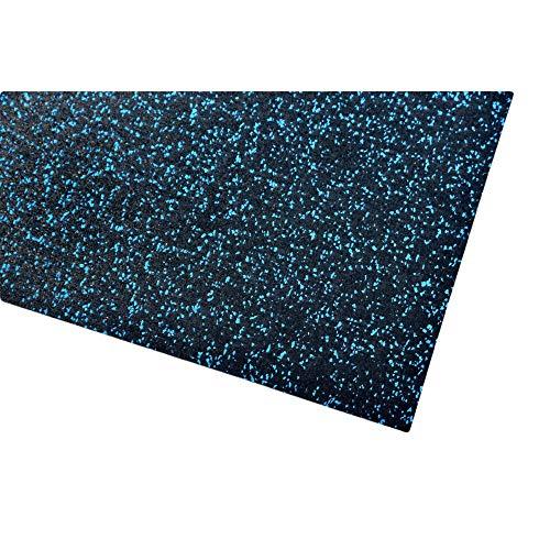 acerto 40392 Unterlegmatte für Fitnessgeräte * Unterlage 200x125cm (4mm) blau Robuster Fußbodenschutz rutschfest & Schalldämmend Boden-Schutzmatte Fitness-Raum Bodenbelag Sportgeräte Multifunktions