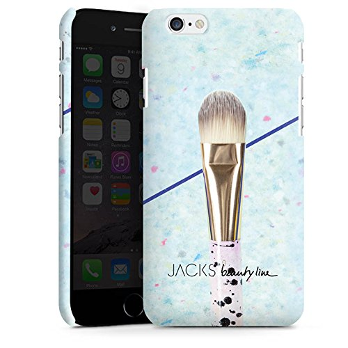 Apple iPhone X Silikon Hülle Case Schutzhülle Pinsel Schminke Schminken Premium Case matt