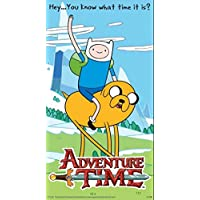 1art1 Hora De Aventuras - You Know What Time It Is? Vinilo Decorativo Pegatina Autoadhesivo (9 x 9cm)
