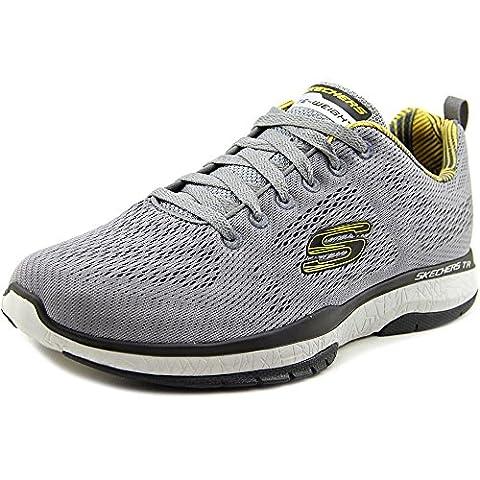 Skechers Men's Burst Tr-Coram Light Gray/Black Training Shoe 9 Men US