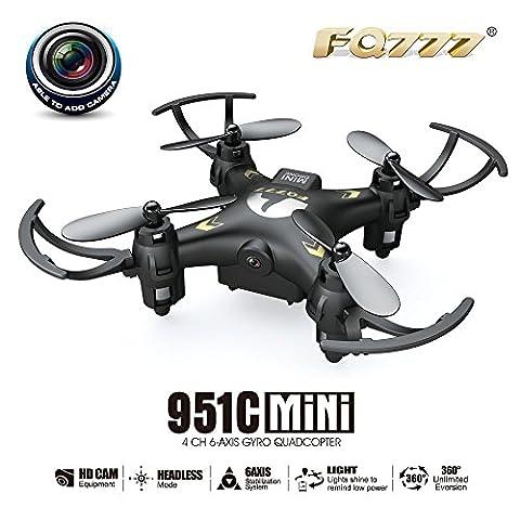 RC Quadcopter, Rcool Mini Drone Radio Remote Control Quadcopter FQ777 951C 2.4G 4CH 6-Axis Gyro 0.3MP Camera RTF Quadcopter Airplane
