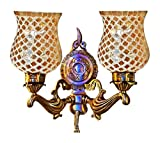 #4: Handicraft Kottage Wall Hanging Lamp without Bulb (White and Golden, HK-WL5009)