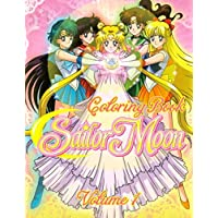 Sailor Moon Coloring Book: Great 50 Illustrations for Kids - Vol 1