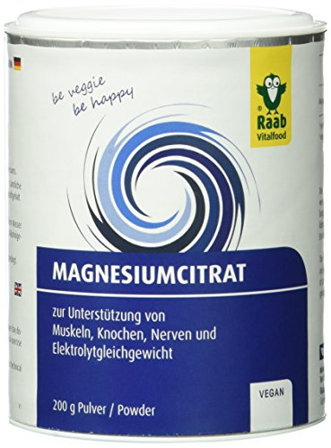 Raab Vitalfood Magnesium-Citrat Pulver 200 g, 1-er Pack (1 x 200 g) (Vital-produkte)