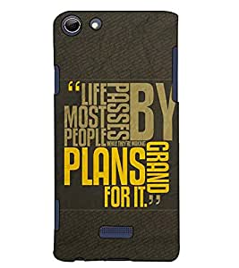 Fuson Designer Back Case Cover for Micromax Canvas Selfie 3 Q348 (Life passes by theme)