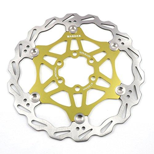 Sharplace MTB Fahrrad Schwimmscheibe Bremsscheibe 7075 Aluminiumlegierung 180mm