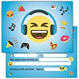 12 Lustige Smiley Einladungskarten zum Kindergeburtstag // Emoji Geburtstagseinladungen Einladungen Geburtstag Kinder Jungen Mädchen Einladungstext Emojis 1. Vorlagen Karten Set