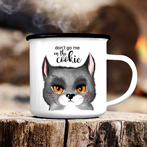 Wandtattoo-Loft Campingbecher Katze mit Spruch
