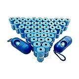 Hundebeutel 630 Stück 42 Rolle mit 2 Beutelspender Kotbeutelspender Blau