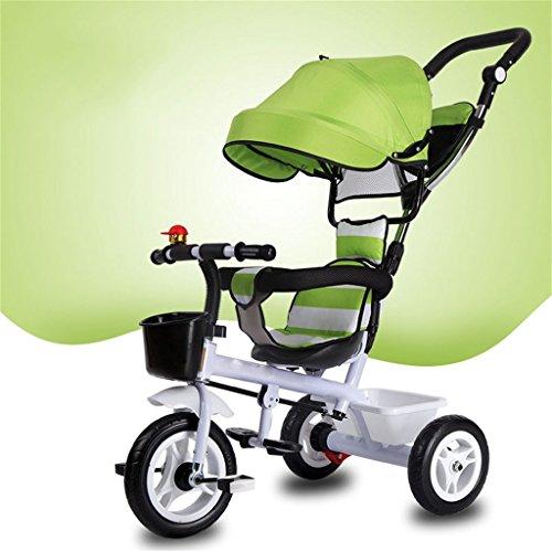 QLL-Des vélos pour enfants Sport en plein air Tricycle bébé chariot vélo enfant jouet voiture roue gonflable / mousse roue vélo 3 roues, vélo vert (garçon / fille, 1-3-5 ans) Sans danger pour les enfants ( Couleur : A type )