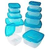 Kurtzy 10-tlgs. Kunststoff Brotdosen Set Lunchbox Brotzeitbox mit Deckel für Schule, Mittagessen, Rucksack - Erwachsene und Kinder - Frischhaltedosen Set in Verschiedenen Größen -