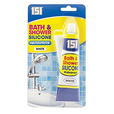 2Bad & Dusche Silikon Wasserdicht Weiß 2X 70g