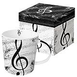 Tasse I love Music im Used-Look in Geschenkbox - Schönes Geschenk für Musiker