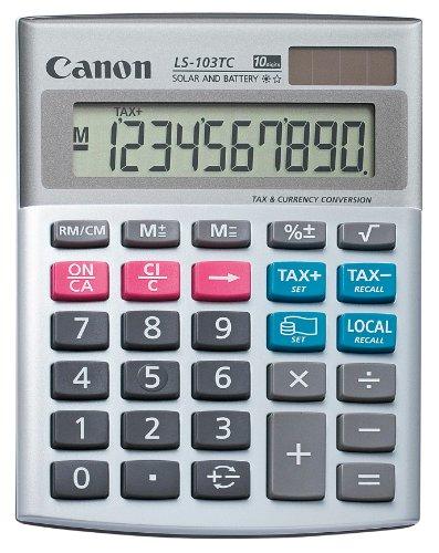 Calcolatrice Display Ls-103tc 10 Cifre, Ampio Display Ldc Inclinato, Funzione Tax & Business (Cost/Sell/Margin). Doppia Alimentazione (Batteria/Solare). Colore:
